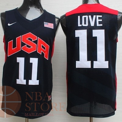 Classic Maillot NBA 2012 USA NO.11 Kevin Love Noir