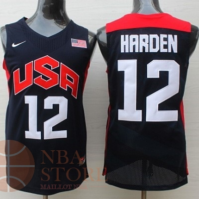 Classic Maillot NBA 2012 USA NO.12 James Harden Noir