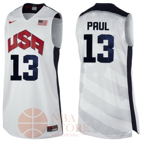 Classic Maillot NBA 2012 USA NO.13 Paul Blanc