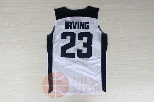 Classic Maillot NBA 2012 USA NO.23 Kyrie Irving Blanc