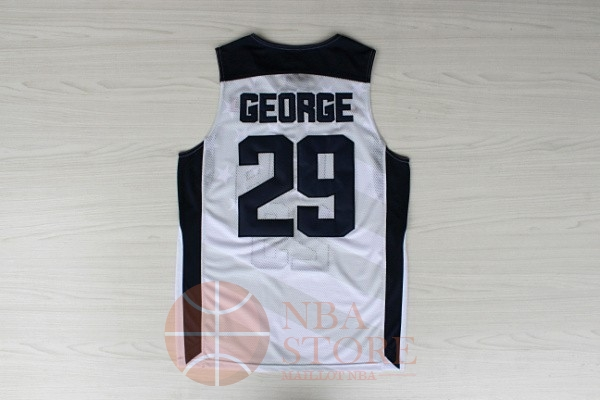 Classic Maillot NBA 2012 USA NO.29 Paul George Blanc