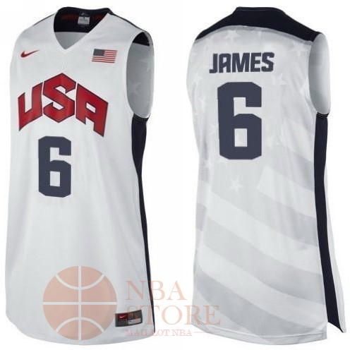 Classic Maillot NBA 2012 USA NO.6 James Blanc
