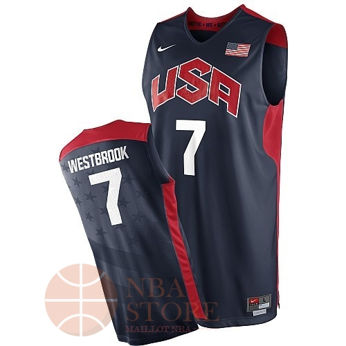 Classic Maillot NBA 2012 USA NO.7 Westbrook Noir