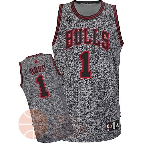 Classic Maillot NBA 2013 Static Fashion Chicago Bulls NO.1 Rose