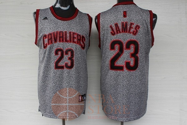 Classic Maillot NBA 2013 Static Fashion Cleveland Cavaliers NO.23 James