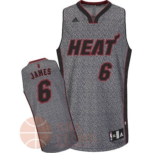 Classic Maillot NBA 2013 Static Fashion Miami Heat NO.6 James