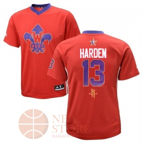 Classic Maillot NBA 2014 All Star NO.13 James Harden Rouge