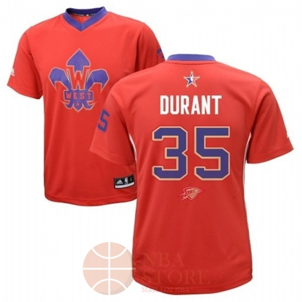 Classic Maillot NBA 2014 All Star NO.35 Kevin Durant Rouge