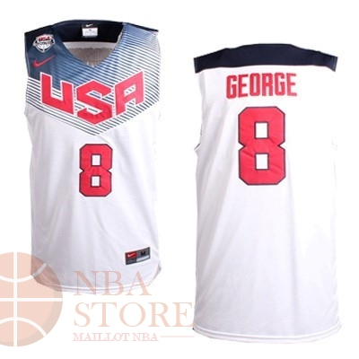 Classic Maillot NBA 2014 USA NO.8 George Blanc