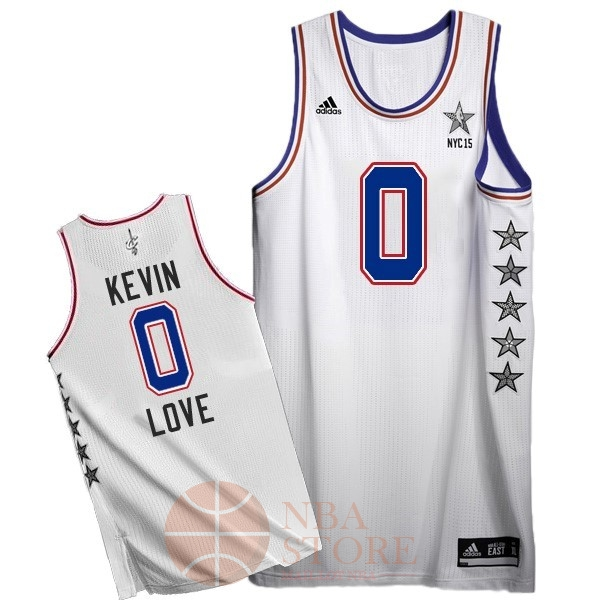 Classic Maillot NBA 2015 All Star NO.0 Kevin Love Blanc