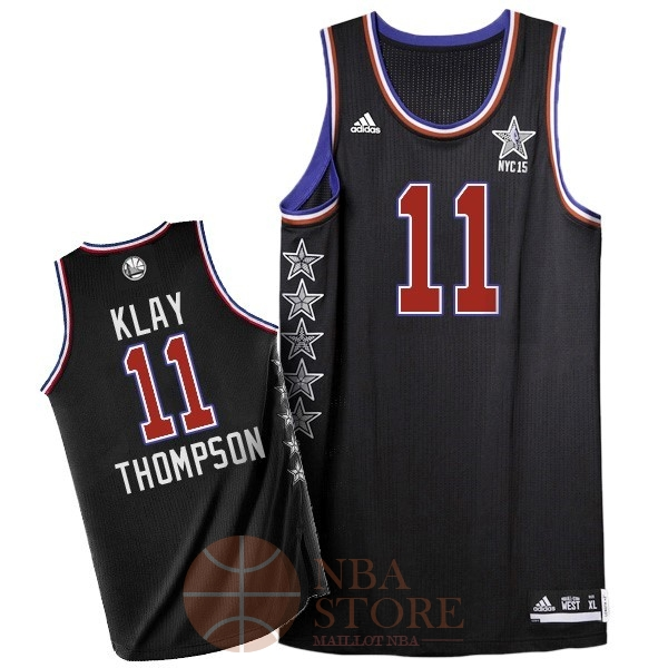 Classic Maillot NBA 2015 All Star NO.11 Klay Thompson Noir