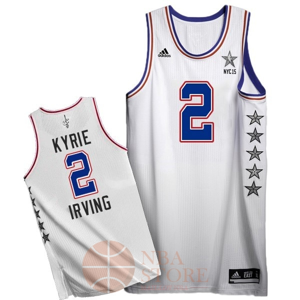 Classic Maillot NBA 2015 All Star NO.2 Kyrie Irving Blanc