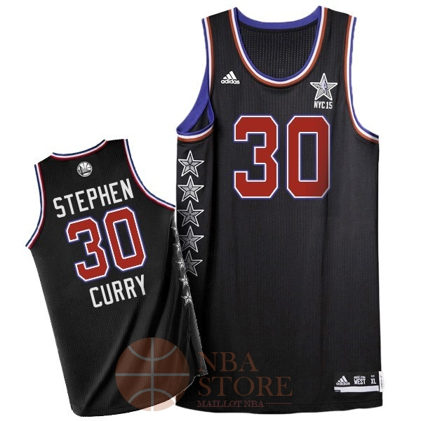 Classic Maillot NBA 2015 All Star NO.30 Stephen Curry Noir