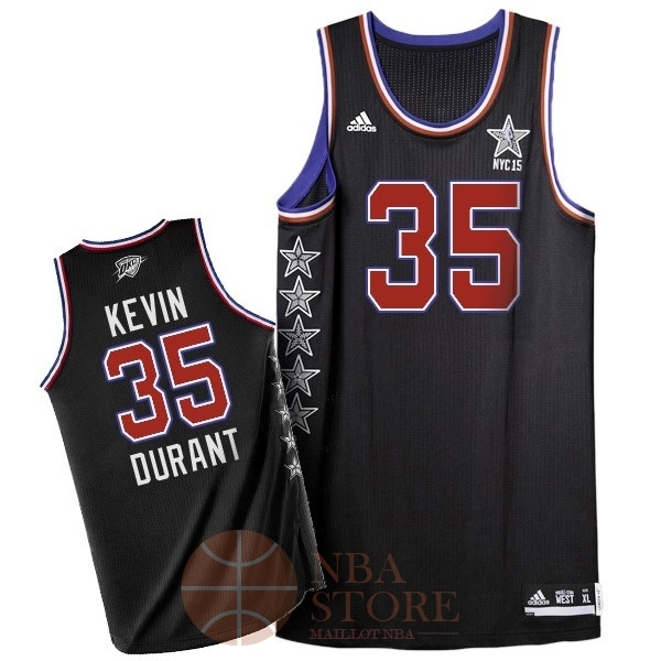 Classic Maillot NBA 2015 All Star NO.35 Kevin Durant Noir