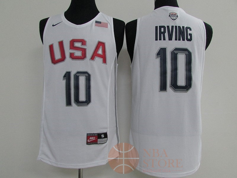 Classic Maillot NBA 2016 USA NO.10 Kyrie Irving Blanc