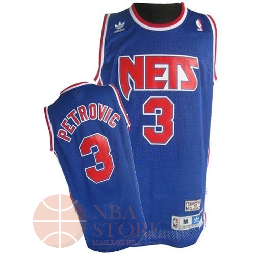 Classic Maillot NBA Brooklyn Nets No.3 Drazen Petrovic Bleu