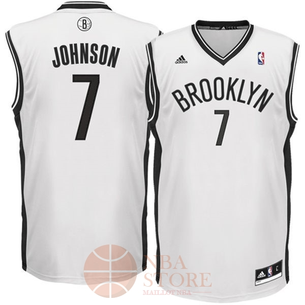 Classic Maillot NBA Brooklyn Nets No.7 Earvin Johnson Blanc