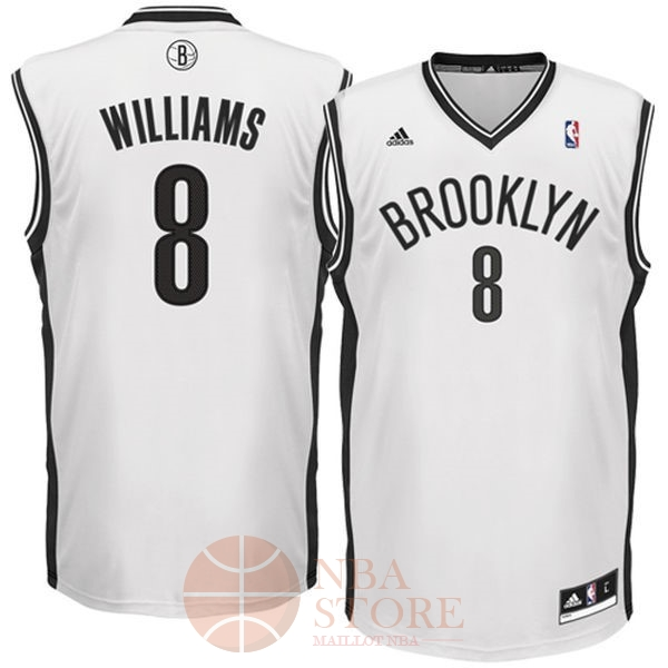 Classic Maillot NBA Brooklyn Nets No.8 Deron Michael Williams Blanc