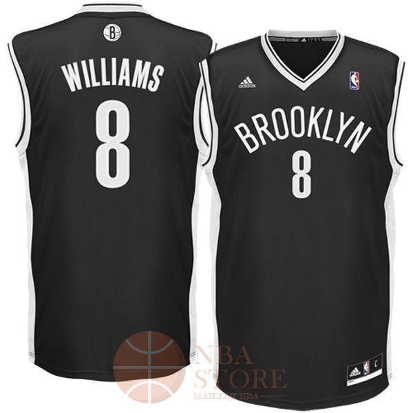 Classic Maillot NBA Brooklyn Nets No.8 Deron Michael Williams Noir