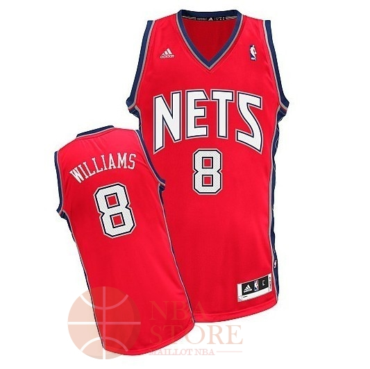 Classic Maillot NBA Brooklyn Nets No.8 Deron Michael Williams Rouge
