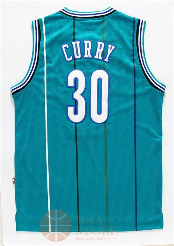 Classic Maillot NBA Charlotte Hornets NO.30 Wardell Stephen Curry Vert
