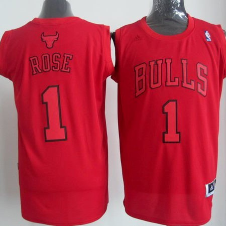 Classic Maillot NBA Chicago Bulls 2012 Noël NO.1 Rose Rouge