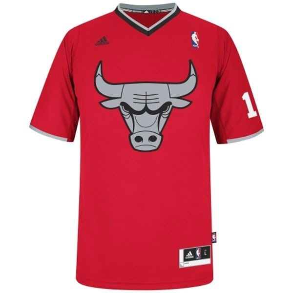 Classic Maillot NBA Chicago Bulls 2013 Noël NO.1 Rose Rouge