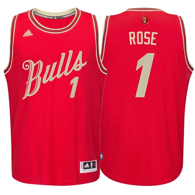 Classic Maillot NBA Chicago Bulls 2015 Noël NO.1 Rose Rouge