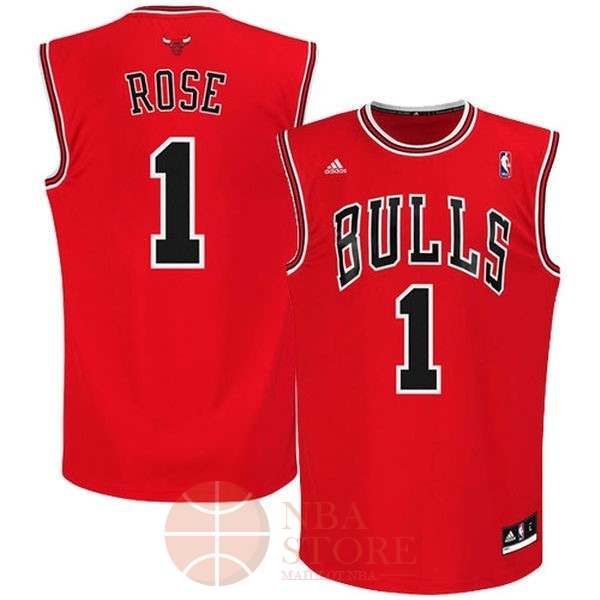 Classic Maillot NBA Chicago Bulls NO.1 Derrick Rose Rouge
