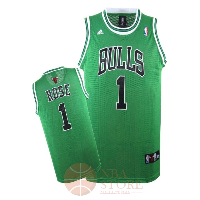 Classic Maillot NBA Chicago Bulls NO.1 Derrick Rose Vert