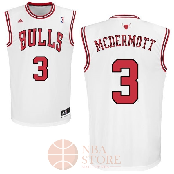 Classic Maillot NBA Chicago Bulls NO.3 Doug McDermott Blanc