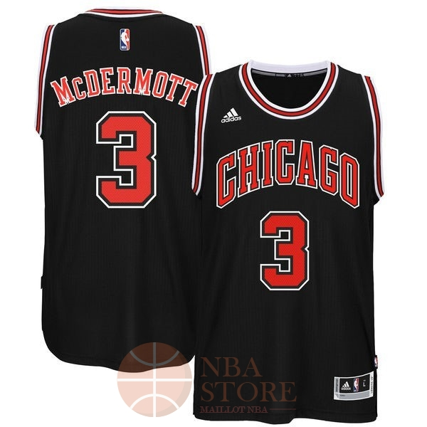 Classic Maillot NBA Chicago Bulls NO.3 Doug McDermott Noir