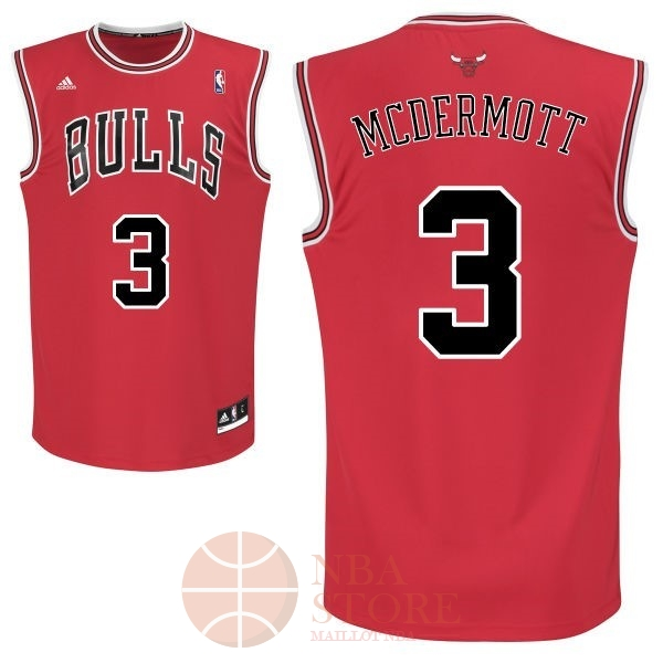 Classic Maillot NBA Chicago Bulls NO.3 Doug McDermott Rouge