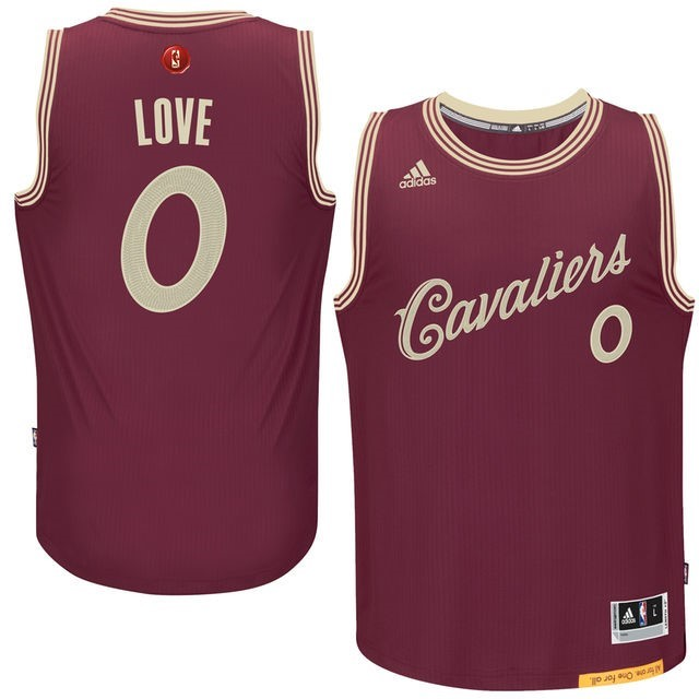 Classic Maillot NBA Cleveland Cavaliers 2015 Noël NO.0 Love Rouge