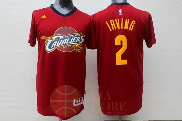 8da5a1ebe4d3c Classic Maillot NBA Cleveland Cavaliers Manche Courte NO.2 Kyrie Irving  Rouge
