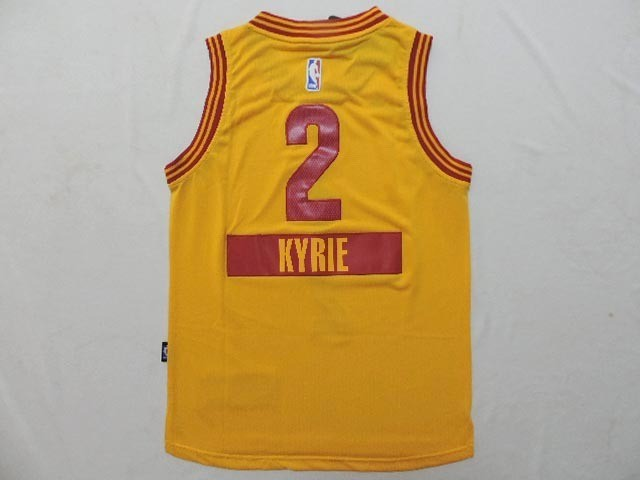 Classic Maillot NBA Enfant 2014 Noël Cleveland Cavaliers NO.2 Kyrie Irving Jaune
