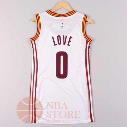 Classic Maillot NBA Femme Cleveland Cavaliers NO.0 Kevin Love Blanc