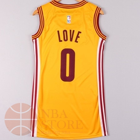 Classic Maillot NBA Femme Cleveland Cavaliers NO.0 Kevin Love Jaune