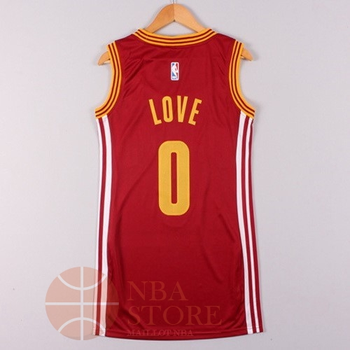 Classic Maillot NBA Femme Cleveland Cavaliers NO.0 Kevin Love Rouge