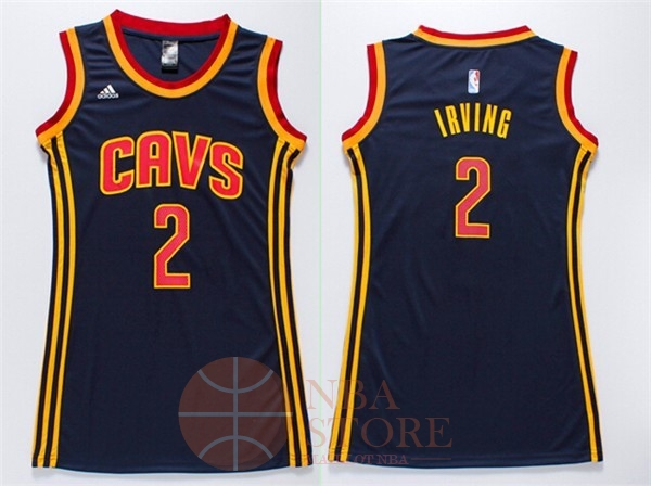 Classic Maillot NBA Femme Cleveland Cavaliers NO.2 Kyrie Irving Bleu