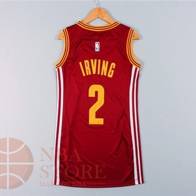 Classic Maillot NBA Femme Cleveland Cavaliers NO.2 Kyrie Irving Rouge