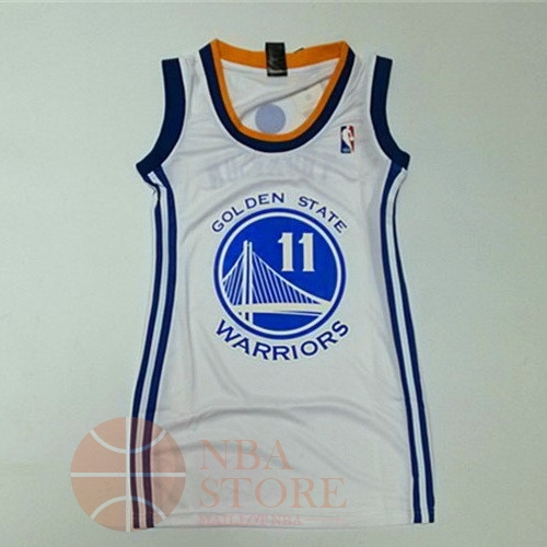 Classic Maillot NBA Femme Golden State Warriors NO.11 Klay Thompson Blanc