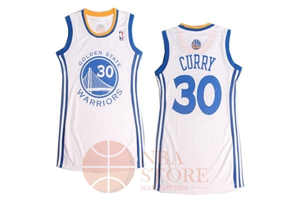 Classic Maillot NBA Femme Golden State Warriors NO.30 Stephen Curry Blanc