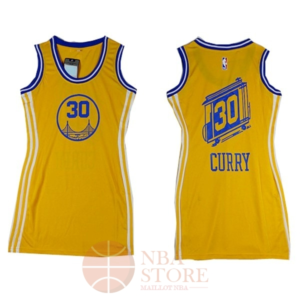 Classic Maillot NBA Femme Golden State Warriors NO.30 Stephen Curry Jaune