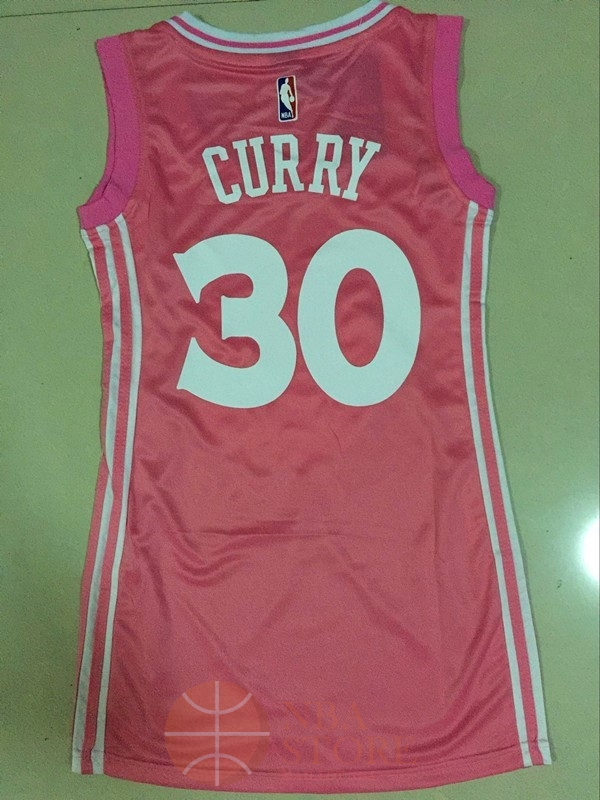 Classic Maillot NBA Femme Golden State Warriors NO.30 Stephen Curry Rose