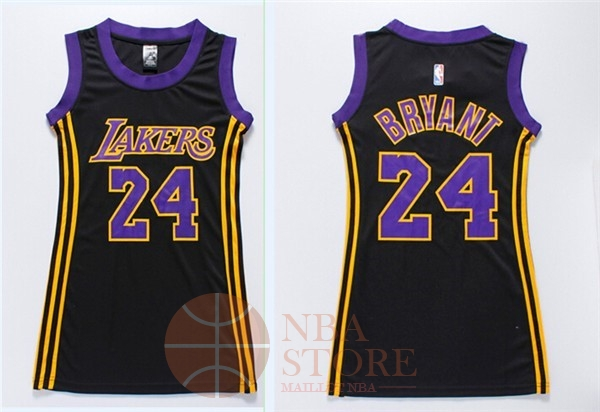 Classic Maillot NBA Femme Los Angeles Lakers NO.24 Kobe Bryant Noir