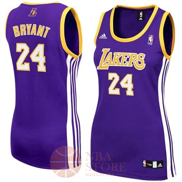 Classic Maillot NBA Femme Los Angeles Lakers NO.24 Kobe Bryant Pourpre