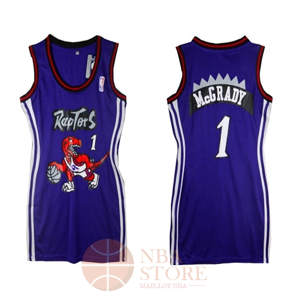 Classic Maillot NBA Femme Toronto Raptors NO.1 Tracy McGrady Pourpre