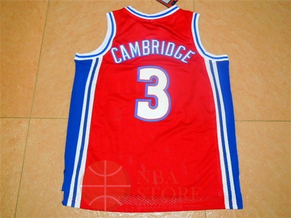 Classic Maillot NBA Film Basket-Ball Bel Air Academy NO.3 Cambridge Rouge