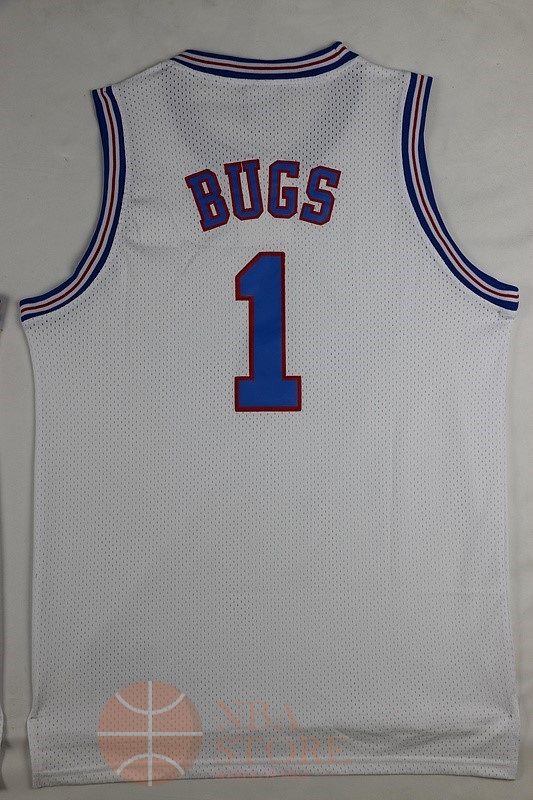Classic Maillot NBA Film Basket-Ball Tune Squad NO.1 Bugs Blanc